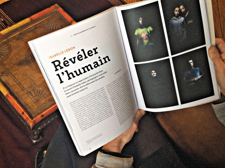 portrait de la photographe Isabelle Lebon dans Michel n°1
